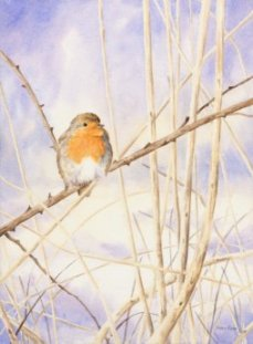 Image of Winter Robin painting