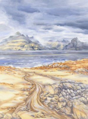Image of Cuillin Ridge from Elgol painting